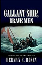 book cover Gallant Ship men in lifeboat