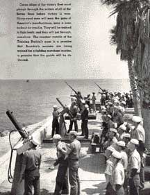 Trainees at Avalon Catalina Island practice gunnery