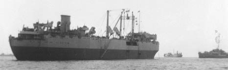 SS Seatrain Texas in wartime convoy