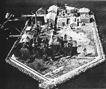 Aerial view of Hoffman Island