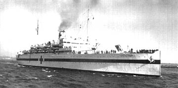 Chateau Thierry as Hospital ship in World War II