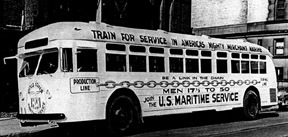 United States Maritime Service Recruiting bus in Toledo Ohio