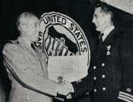Joseph Martilik recives medal