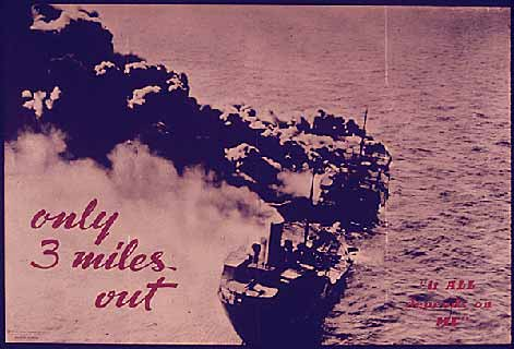 Only Three miles out poster