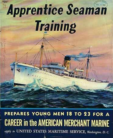 Apprentice seaman training poster