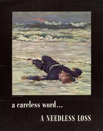 A Careless word. a needless loss poster