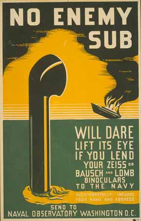 No enemy sub will dare lift its ey poster