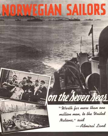 Norwegian sailors on the seven seas poster