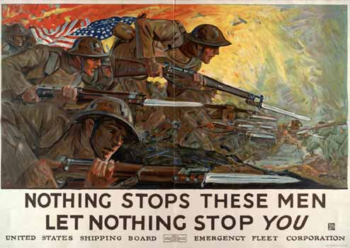 Nothing stops these men: let nothing stop you poster
