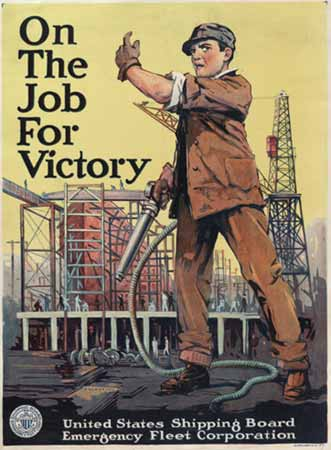 world war 1 poster On the job for victory