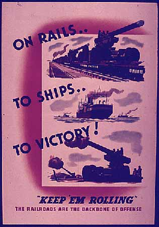 On Rails... To ships... To Victory! poster