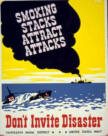 Smoking stacks attract attacks: Don't invite disaster poster