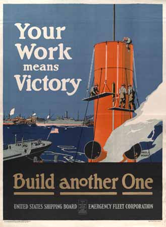 Your work means victory: Build another one poster