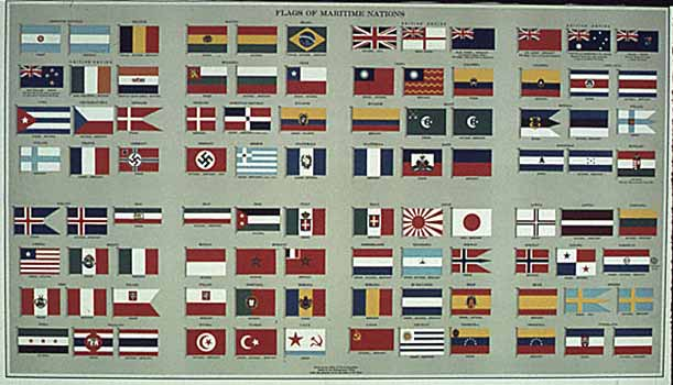 poster Flags of Maritime Nations