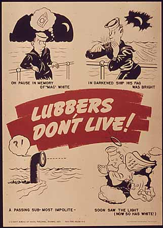 WW2 poster Lubbers Don't Live