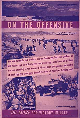 WW2 Poster On the Offensive