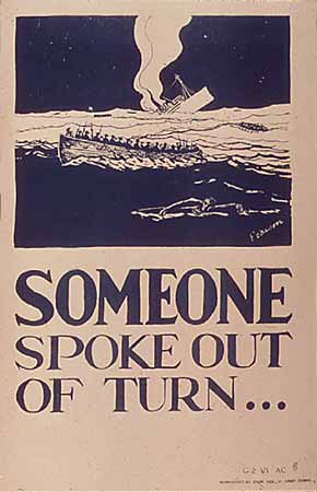 WW2 poster Someone Spoke Out of Turn